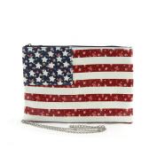 Floral American Clutch and Wristlet On Coated Canvas