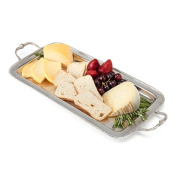 Twine Chateau Pewter Serving Tray, Metallic,