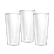 Party Essentials N302021 20 Count Hard Plastic Beer Flight Tasting Glasses, 90ml, Clear