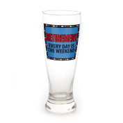 Enesco Our Name is Mud by Lorrie Veasey Retirement Glass Pilsner, Multicolor