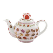 Cardew Design Chocolates 2 Cup Teapot with Heart Box Lid, 530ml, Multicolor