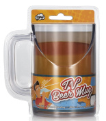 NPW-USA Better TV Viewing Slanted Beer Mug, Clear