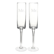 Cathy's Concepts Mr. & Mr. Contemporary Champagne Flutes