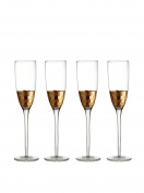Fitz and Floyd 229705-FL Daphne Champagne Flutes (Set of 4 ), Gold