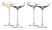 LSA International G730-11-991 Wine Champagne Saucer (4 Pack), 300ml, Clear