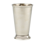 Elegance Mint Julep Nickel Plated on Brass Cup, 15cm , Silver