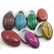Kenya Soapstone Box - Domed Christian Oval - Various Colours