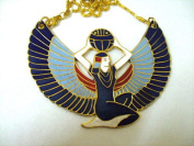 Egyptian Jewellery Isis Wings Necklace Large Solid Brass