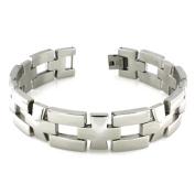 Stainless Steel Cross Link Bracelet 22cm