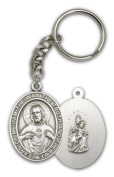 ReligiousObsession's Antique Silver Scapular Keychain