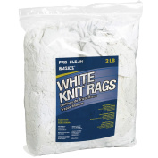 Pro-Clean Basics A99325 Recycled T-Shirt Knits, 0.9kg. Bag, White