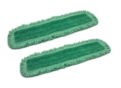 60cm Inch Green Fringe Microfiber Dust Mop Pads for Professional Commercial Microfiber Mops