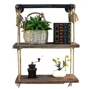 NACH qa-1007 2 Shelves Industrial Shelf with Rope and Tube Piping