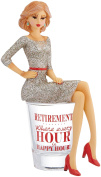 Hiccup by H2Z 73704 Retirement Girl in Shot Glass, 15cm High