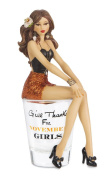 "Hiccup by H2Z 187250cm Give Thanks for November Girls!"" Shot Glass with 15cm Girl Figurine"