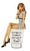 "Hiccup by H2Z 187230cm April Girls Expect Only The Best!"" Shot Glass with 15cm Girl Figurine"