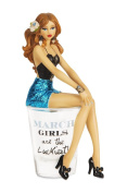 "Hiccup by H2Z 187230cm March Girls are The Luckiest!"" Shot Glass with 15cm Girl Figurine"
