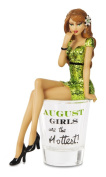 "Hiccup by H2Z 187240cm August Girls are The Hottest!"" Shot Glass with 15cm Girl Figurine"