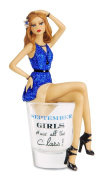 "Hiccup by H2Z 187240cm September Girls Have All The Class!"" Shot Glass with 15cm Girl Figurine"