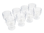 Epicureanist Acrylic Wine Glasses, Set of 8