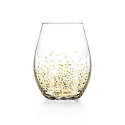 Fitz and Floyd Lustre Stemless Glasses (Set of 4), Gold