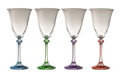 Galway Crystal Liberty Party Pack (Set of 4), Clear/Multicolor