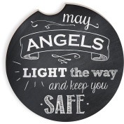 Angelstar 13465 May Angels Light the Way Auto Coaster, Multicolor