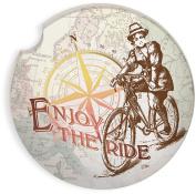 Angelstar 13451 Enjoy The Ride Auto Coaster, Multicolor