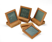 Caffco International Biltmore Inspirations Collection Bamboo Coasters with Stands, Set of 4