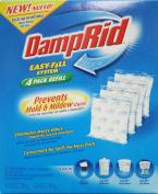 DampRid FG92 Moisture Absorber Easy-Fill System Refill, 4-310ml Packets