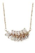 Ocean Fashion small crystal row Sterling Silver Chain gold necklace