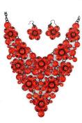 Big Flowers Big Statement Necklace