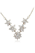 Ocean Fashion Mini crystal flowers clavicle necklace