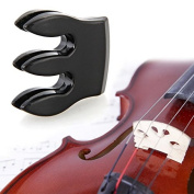 SunSunRise Black 3-Prong Metal Practise Fiddle Mute for Violin Small Viola