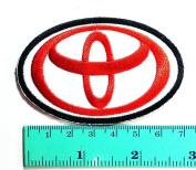 3 Patch Toyota Racing Patch (Red & white) Motorsport Car Racing Sport Automobile Car Motorsport Racing Logo Patch Sew Iron on Jacket Cap Vest Badge Sign
