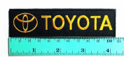 3 Patch Toyota Racing Patch (Black & gold) Motorsport Car Racing Sport Automobile Car Motorsport Racing Logo Patch Sew Iron on Jacket Cap Vest Badge Sign