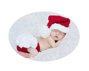 Baby Box Cute Newborn Photography Outfit Props Hat Set,Red