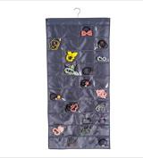 GYMNLJY Household Supplies 80 Grid Double-sided Jewellery Organiser Fabric Closet Organiser , b
