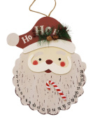 Santa and Snowman Countdown to Christmas Hanging Calendar Signs