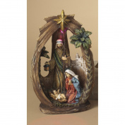 Light-up Glittered Nativity Manger Tabletop Christmas Scene