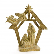 Holy Family Resin 9.25X3.190cm X 24cm With Creche