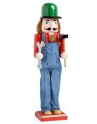 Handyman Carpenter With Tools Large Unique Decorative Holiday Season Wooden Christmas Nutcracker