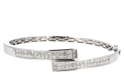 Diamond Bangle, 18kt White Gold Diamond Bangle