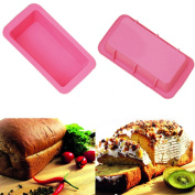 WHOSEE 2-Pack Silicone Bread Loaf Cake Mould Non Stick Bakeware Baking Pan Random Colour