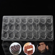 Grainrain Crown Type Shaped Polycarbonate Cake Chocolate Moulds DIY Baking Tray 3D Moulds