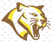 15cm Round - Brown & Gold Cougar Panther Team Mascot - Edible Cake/Cupcake Party Topper!!!