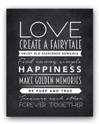 LOVE Quote Chalkboard Sign, Perfect Wedding, Engagement or Anniversary Gift (8x10) Chalk Sign By meijiafei