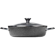 Starfrit 060743-003-0000 4.7l Dutch Oven with Lid, Black