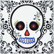Janna Salak Designs Day of the Dead Dia de los Muertos Sugar Skull Coaster