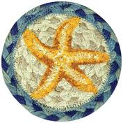 Earth Rugs 31-IC378SF Star Fish Round Printed Coaster, 13cm